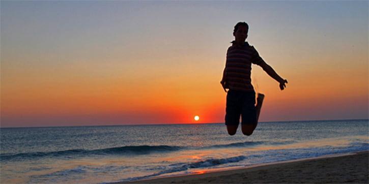 Sunset from Cape Trafalgar. Coast of light. Cadiz