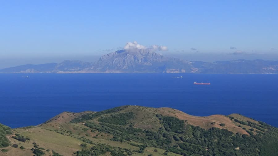 Views of the Strait of Gibraltar