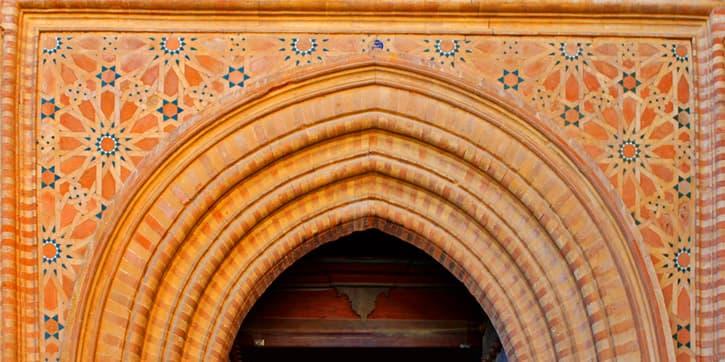 Main door of the Monastery of San Isidoro del Campo. Santiponce, Spain