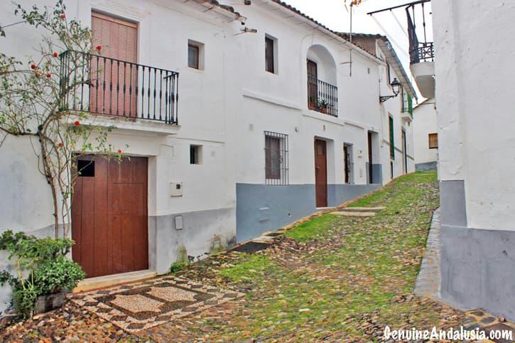 Linares de la Sierra. White Village in the Sierra de Aracena