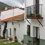 White villages balconies