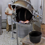 Roasting Almonds in Estepa