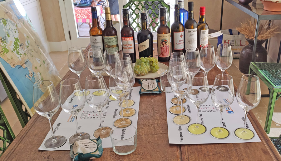 A private sherry tasting in a private villa in Southern Spain
