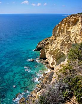 Cadiz cliffs Atlantic Ocean Cape Trafalgar