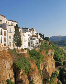 Ronda dramatic gorge in Southern Spain
