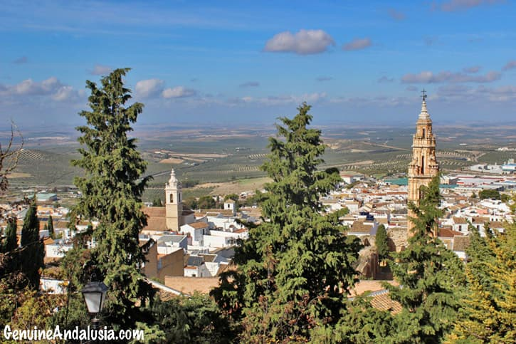The whitewashed hilltop town of Estepa. Southern Spain