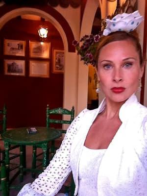 linda enjoying the local festivities in Cadiz Spain