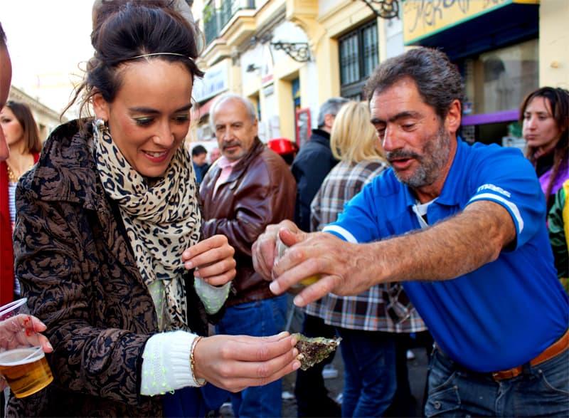 Woman enjoying the carnival in Cadiz city