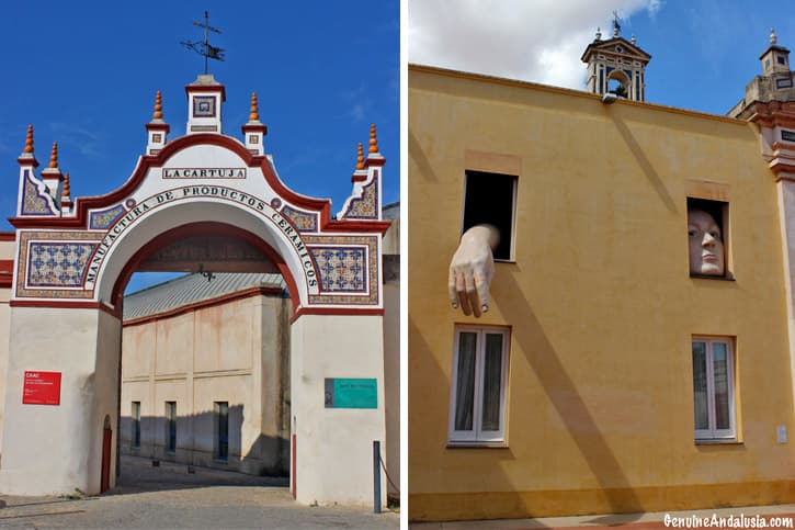 Cartuja ceramics factory and contemporary art of Andalusia. Seville