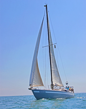Sailing trip of the bay of Cadiz. Southern Spain