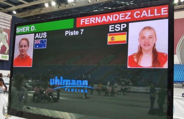 Sara Fernandez Calleja at an international fencing competition