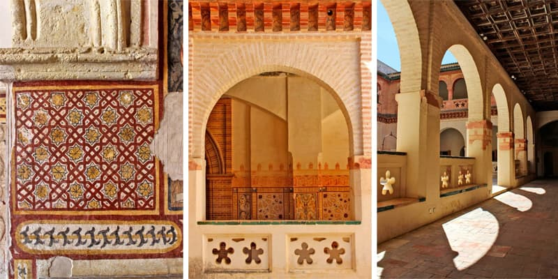 Art and Architecture details of the Monastery of San Isidoro del Campo. Spain