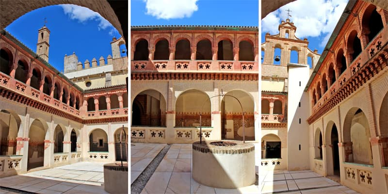 Cloister of the monastery of San Isidoro del Campo. Santiponce, Seville, Spain