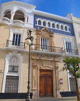 Colonial architecture in Cadiz Southern Spain