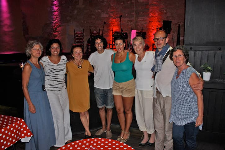 Meeting with flamenco performers during a friends trip to Spain