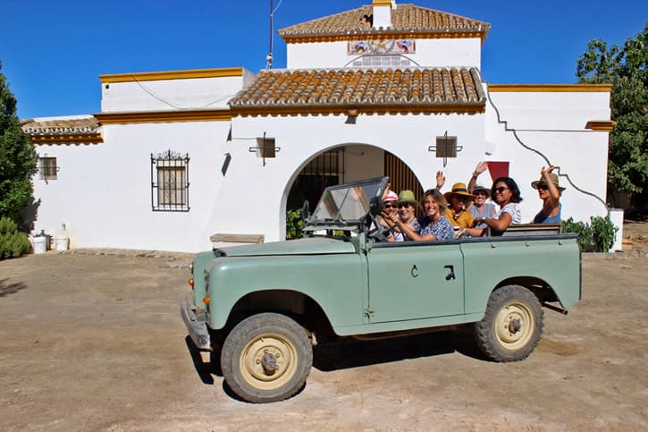 Friends in Andalusia enjoying the result of a good Spain trip planning