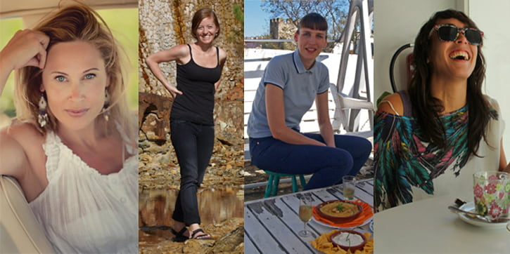 Four female expats living in the province of Cadiz