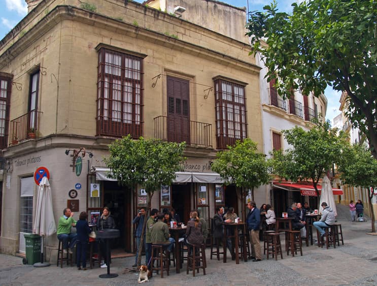Living in Jerez, Spain. Streets and squares