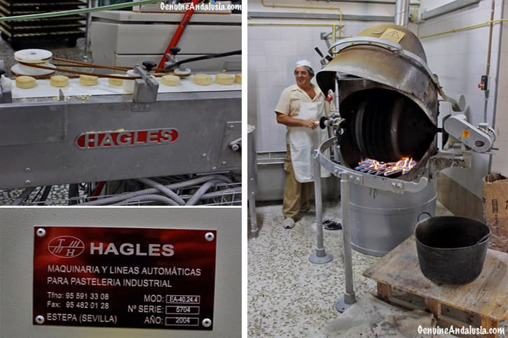 Machinery at a factory of Traditional Spanish Christmas Sweets in Estepa. Andalusia.