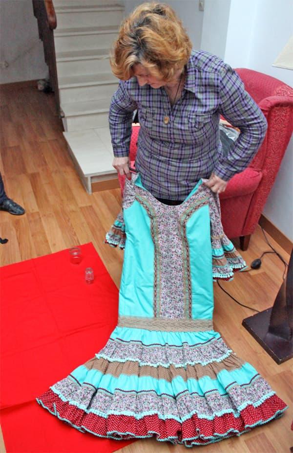 home made flamenco dress