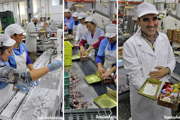 Employees at a factory of Traditional Spanish Christmas Sweets