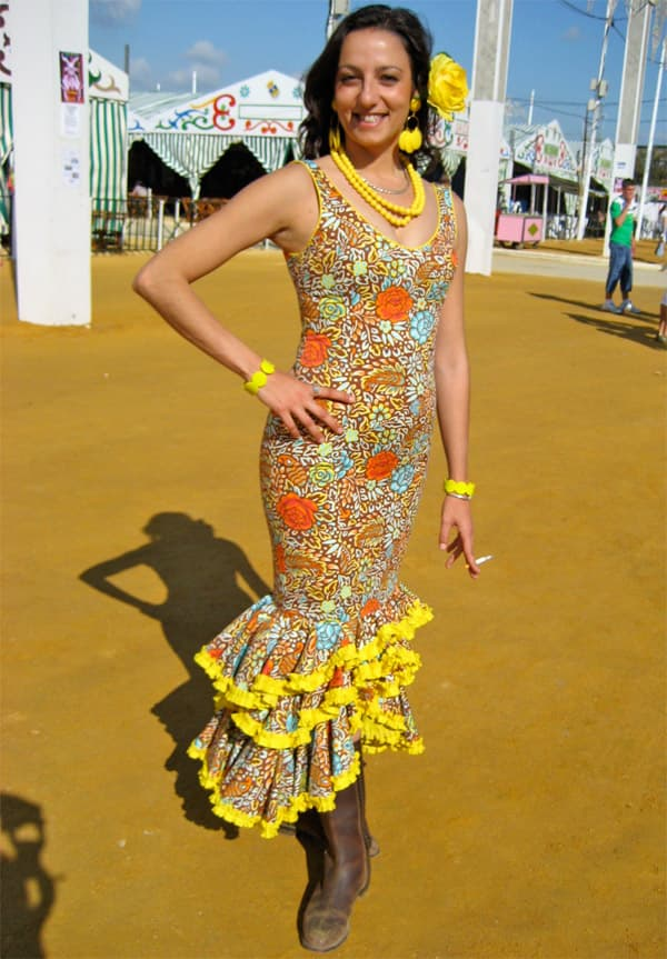yellow flamenco dress