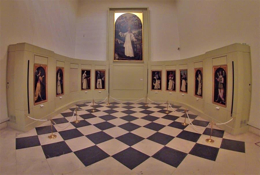 Paintings by Zurbaran in Cadiz art museum