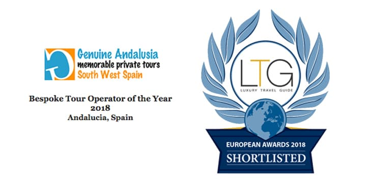 Logo shortlisted for Bespoke Tour Operator of the year for Andalucia. Luxury Travel Guide.