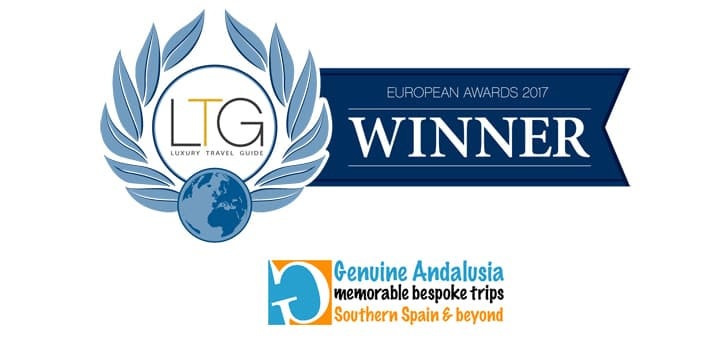 Logo Luxury Travel Guide Awards 2017. Winner Genuine Andalusia