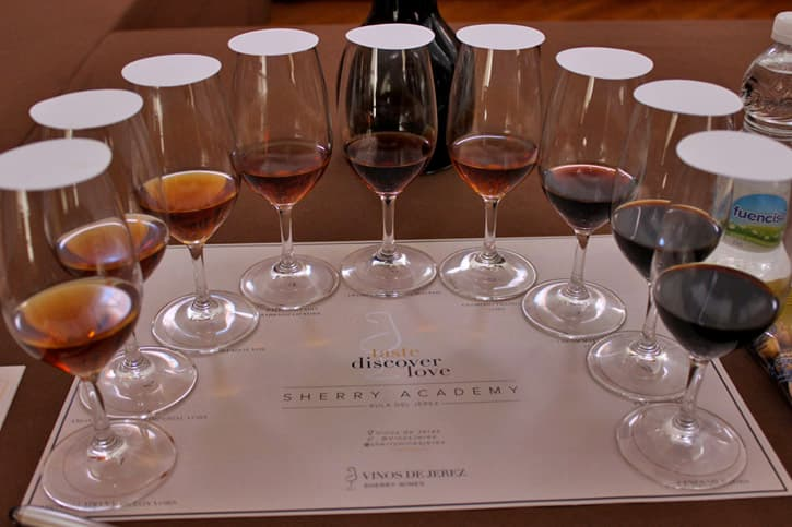 Final tasting. Sherry Educator Course
