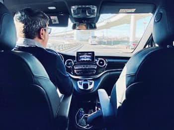 A private chauffeur driving clients through Southern Spain, Andalusia