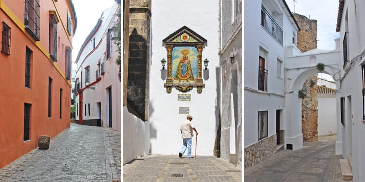 old city quarters in Andalusia and their narrow streets