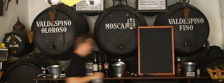 A sherry bar in Andalusia, Southern Spain