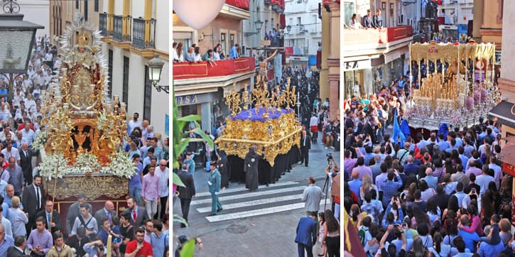 Religious floats in the streets of Andalusia, Southern Spain