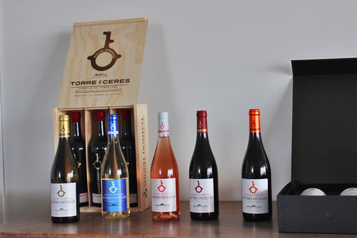 5 wine bottles from Bodega Miguel Domecq opened during a visit to the winery