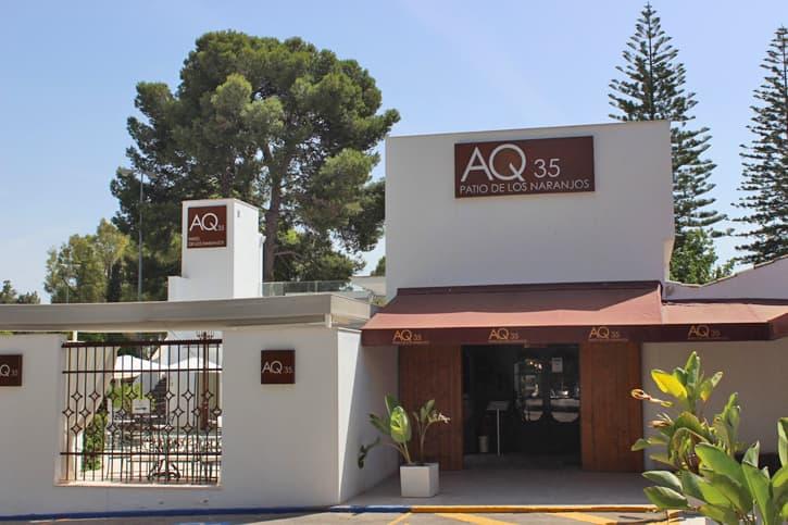 The façade of restaurant AQ35 in Jerez