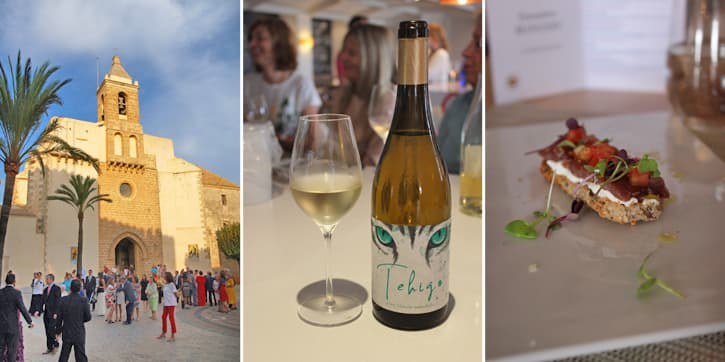 A church, a wine and a dish from Rota, Spain