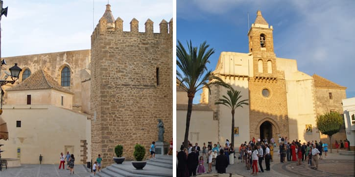 Main castle and main Church in Rota, Southern Spain