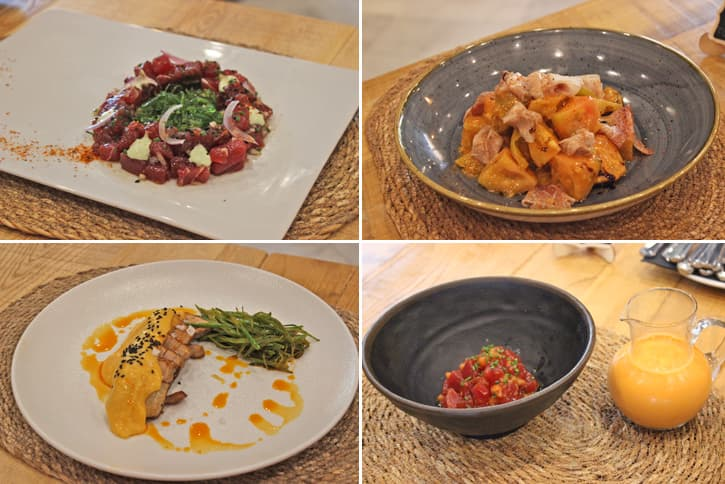 4 dishes of the menu of Jerez restaurant AQ35