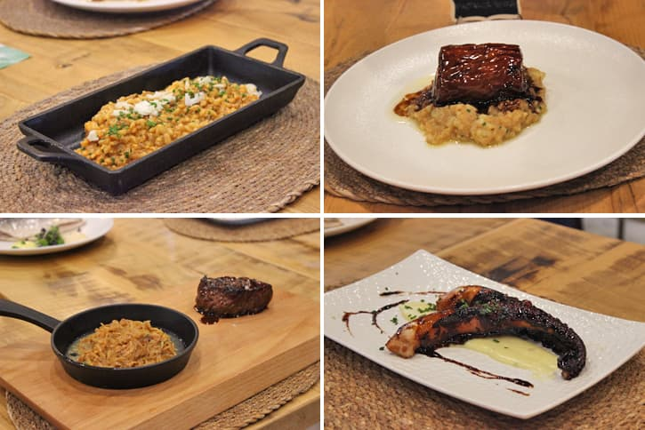 hot dishes of the new menu of Jerez restaurant AQ35