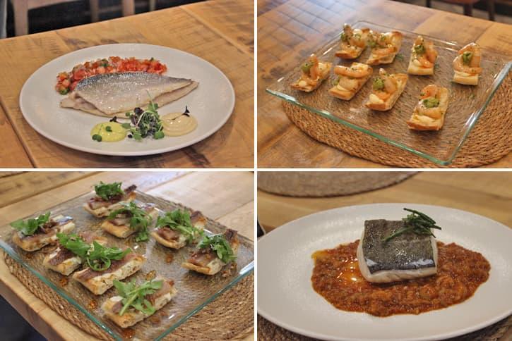4 starters of the menu of Jerez restaurant AQ35